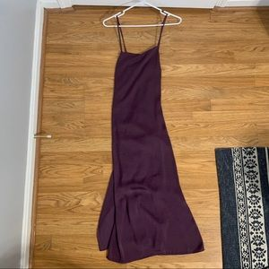 MADEWELL Apron Slipdress in Eggplant Color
